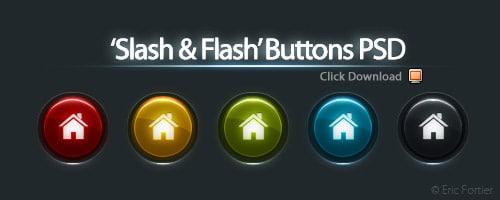 Buttons PSD by El3ment4l