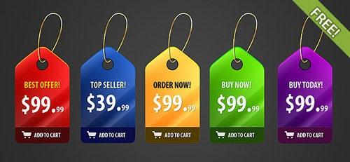 5 Shiny Price Badges