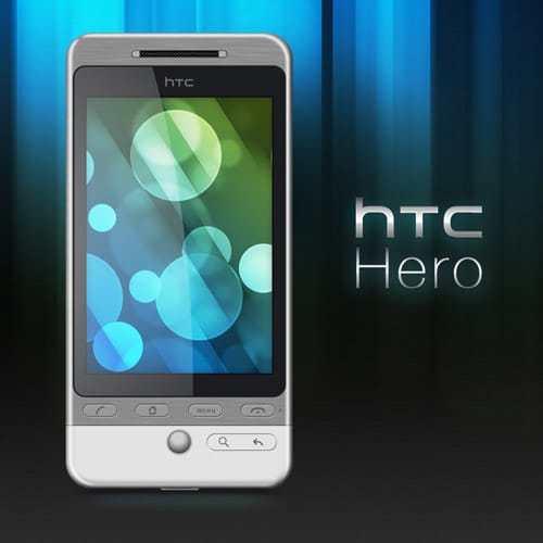 HTC Hero PSD by domox