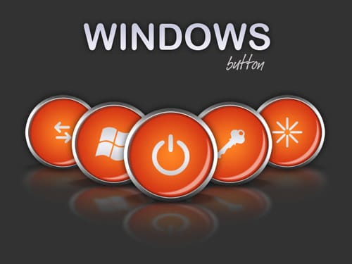 windows button psd by vicing