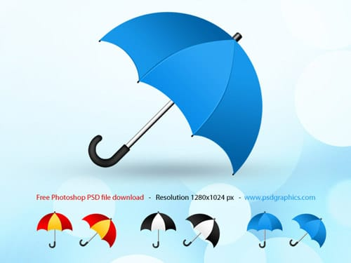 Umbrella icon, Photoshop PSD icons set