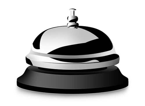 PSD desk service bell icon