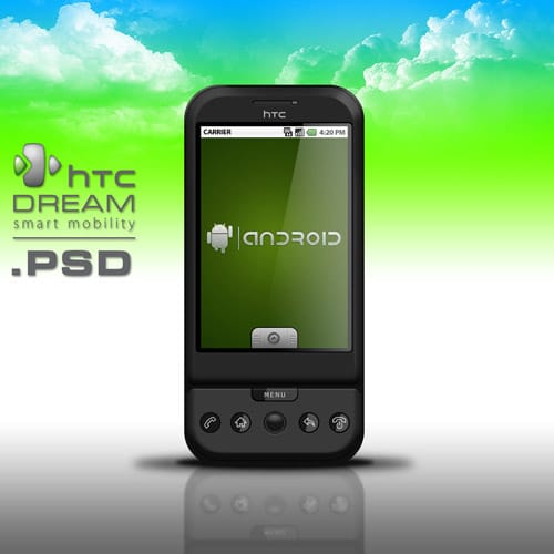HTC G1 Dream Smartphone .PSD by zandog