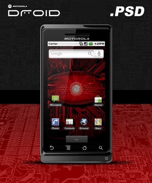 Motorola Droid .PSD by zandog