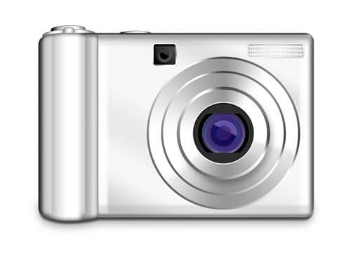 PSD digital photo camera icon