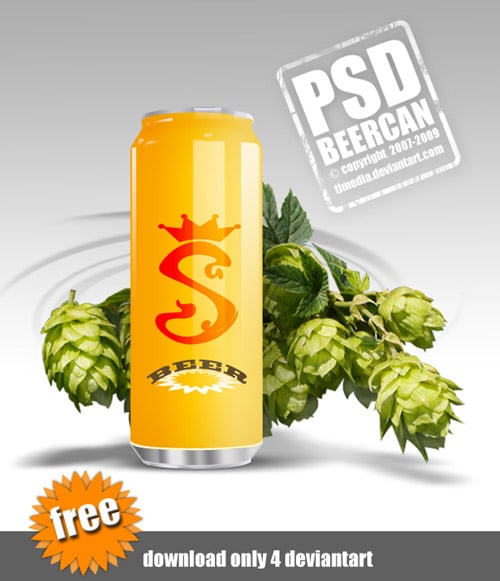BEER can psd by TLMedia