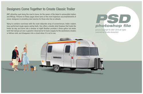 classic trailer PSD by TLMedia