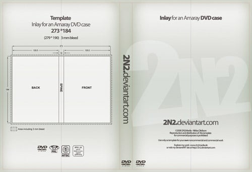 DVD Case Inlay - PSD Template by 2N2