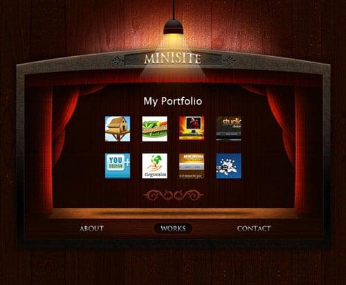Free PSD Templates: vCard Personal Portfolio Minisite
