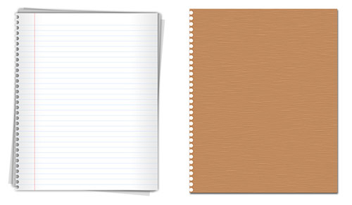 High quality notepaper graphics PSD Download