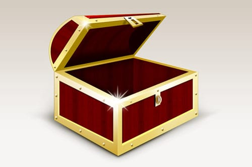 Treasure box graphic and icons download