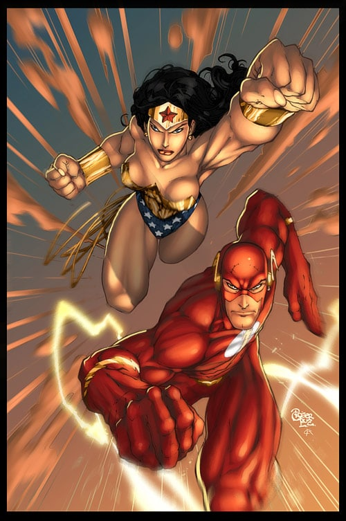 wonder woman and flash by deffectx