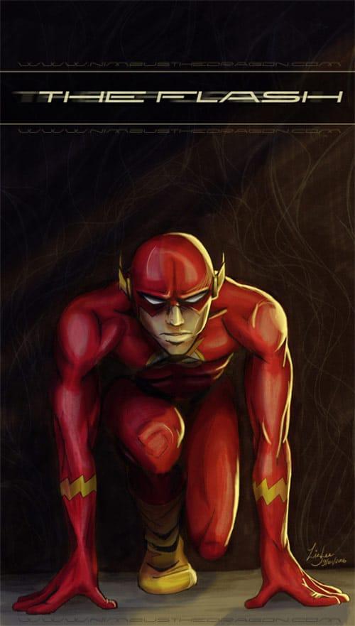 The Flash -art trade- by nimbusthedragon