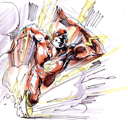 Flash marker sketch by Cinar