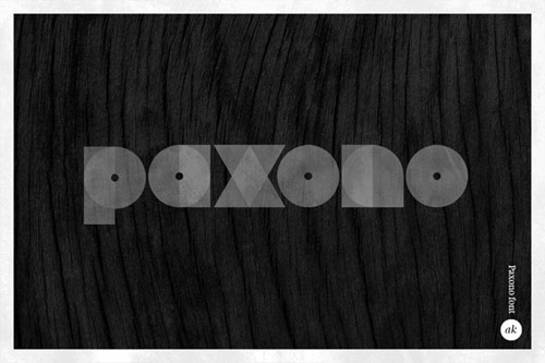 Paxono font By: Anders Kammersgaard