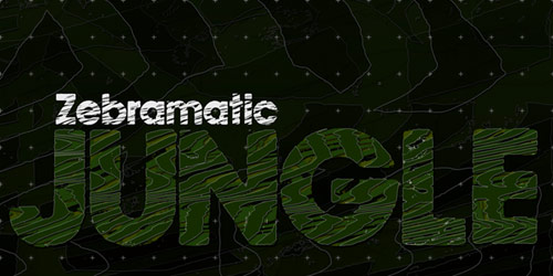 Zebramatic Font By: Harald Geisler