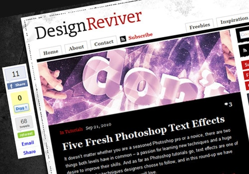 Five Fresh Photoshop Text Effects