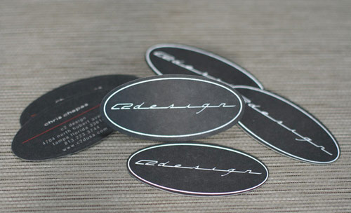 C2 Design Foil and Die Cut Business Cards