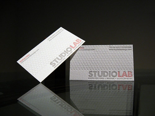 Studio Lab Design Letterpress Business Card