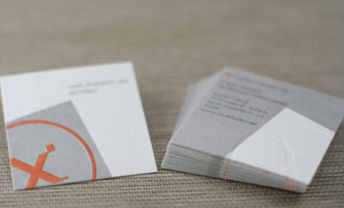 Crux Studio | Square 24pt with Emboss Business Cards