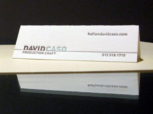 David Caso Business Card