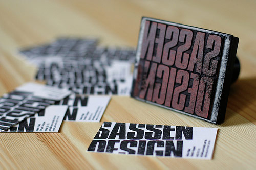 Sassen Design Homemade Business Cards