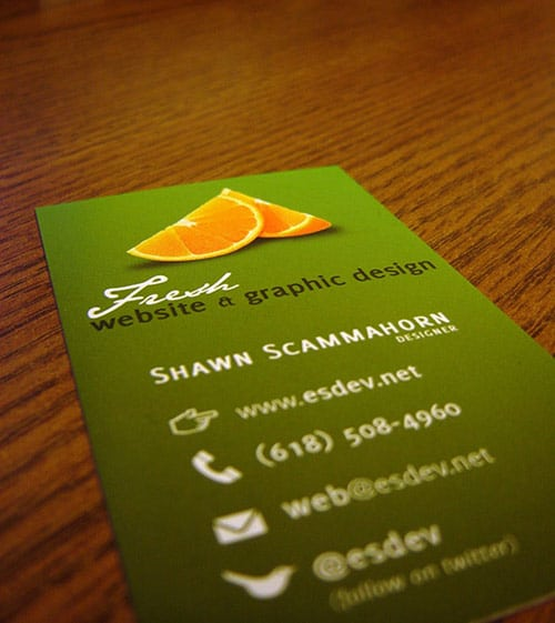 Es Developed Business Cards