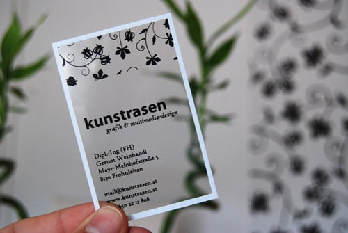 kunstrasen graphic design businesscard