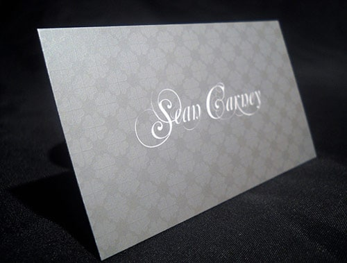 Metallic Silver Cards