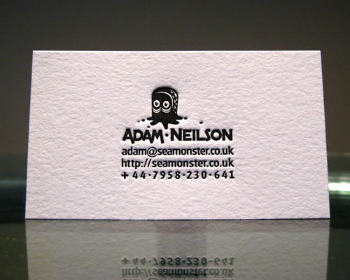 Adam Nielson | Seamonster Letterpress Business Card