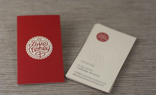 Love Money | Silk Embossed Business Cards
