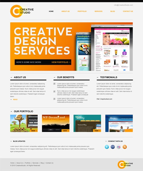 Web Design Services Website Template Psd: PSD Website Templates: Free High Quality Designs