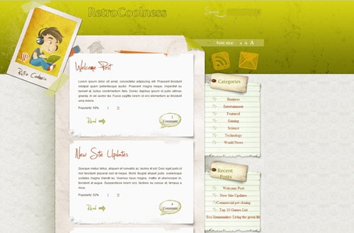 CoolRetro WordPress Theme