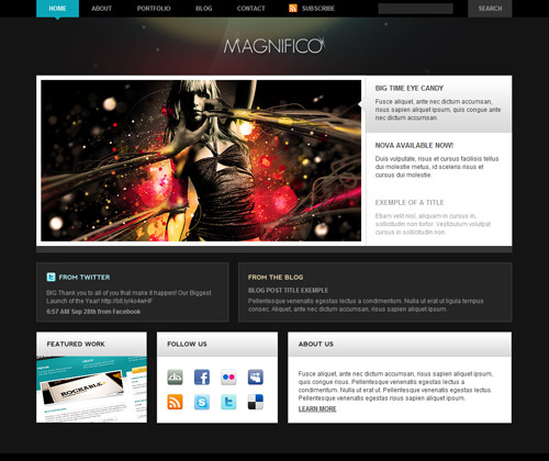 Free Magnifico PSD by DDStudios
