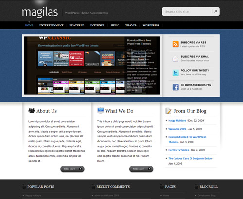 PSD Website Templates Free High Quality Designs Designrfixcom - Website templates wordpress