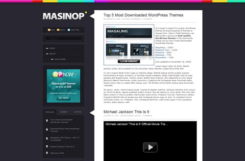 WordPress Theme: Masinop