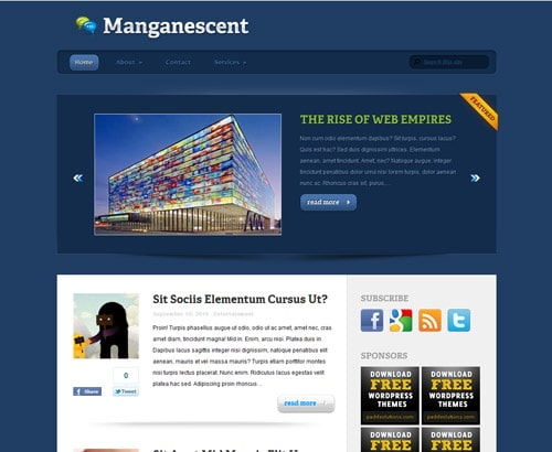 WordPress Theme: Manganescent