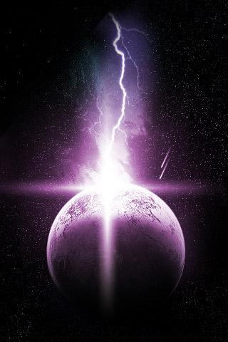 Lightning + Planet