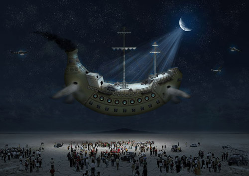 How to Create a Fantasy Banana Ship in Photoshop