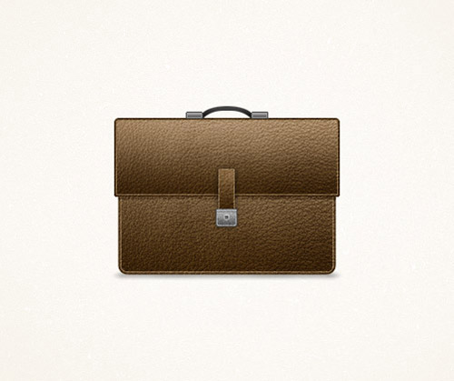 How To Create a Detailed Briefcase Icon in Photoshop