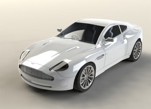 Sports Car modeled in SolidWorks
