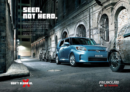 Motor City Mini >> Car ads: 40+ Clever Automobile Advertisements - designrfix.com
