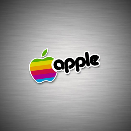 apple wallpaper ipad. Classic Apple Logo - iPad