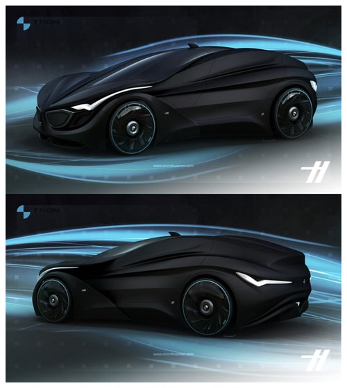 2030 bmw tron matte black by emrehusmen - Sports Cars 2030