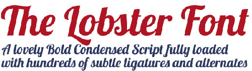the-lobster-font