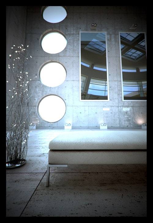 """Jan K. Vollmer - This is my latest work called """"GETTY"""". It is a tribute to the world famous Getty Centre in Los Angeles. All made with 3ds Max, V-Ry and Photoshop"""