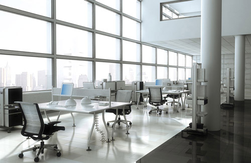 Sin3d - Office in a blue atmosphere