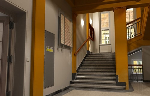 Lukas Burda - Building entrance hall