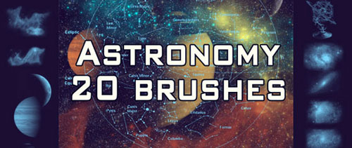 20 astronomy brushes