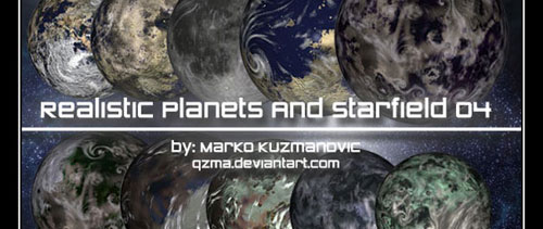 Realistic Planets And Starfield